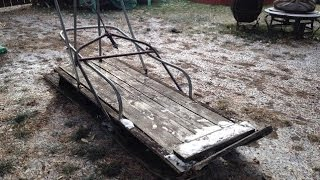 Antique Wooden Trappers Dog Sled