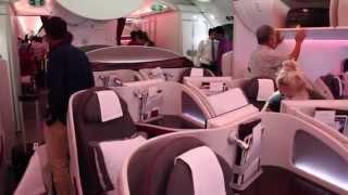 Qatar Airways 787 Dreamliner Business Class - a short video