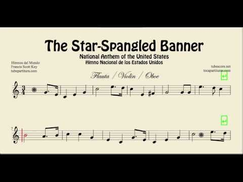 National Anthem of the United States sheet music for flute violin oboe The Star-Spangled Banner