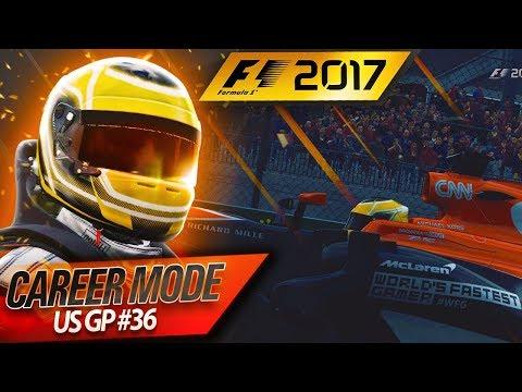 F1 2017 Career Mode Part 36: WET START ON DRY TYRES