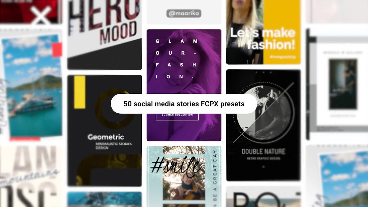 mStories FCPX Plugin - Instagram and Facebook Stories for