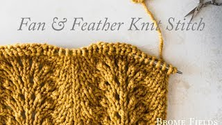 Fan and Feather Knit Stitch