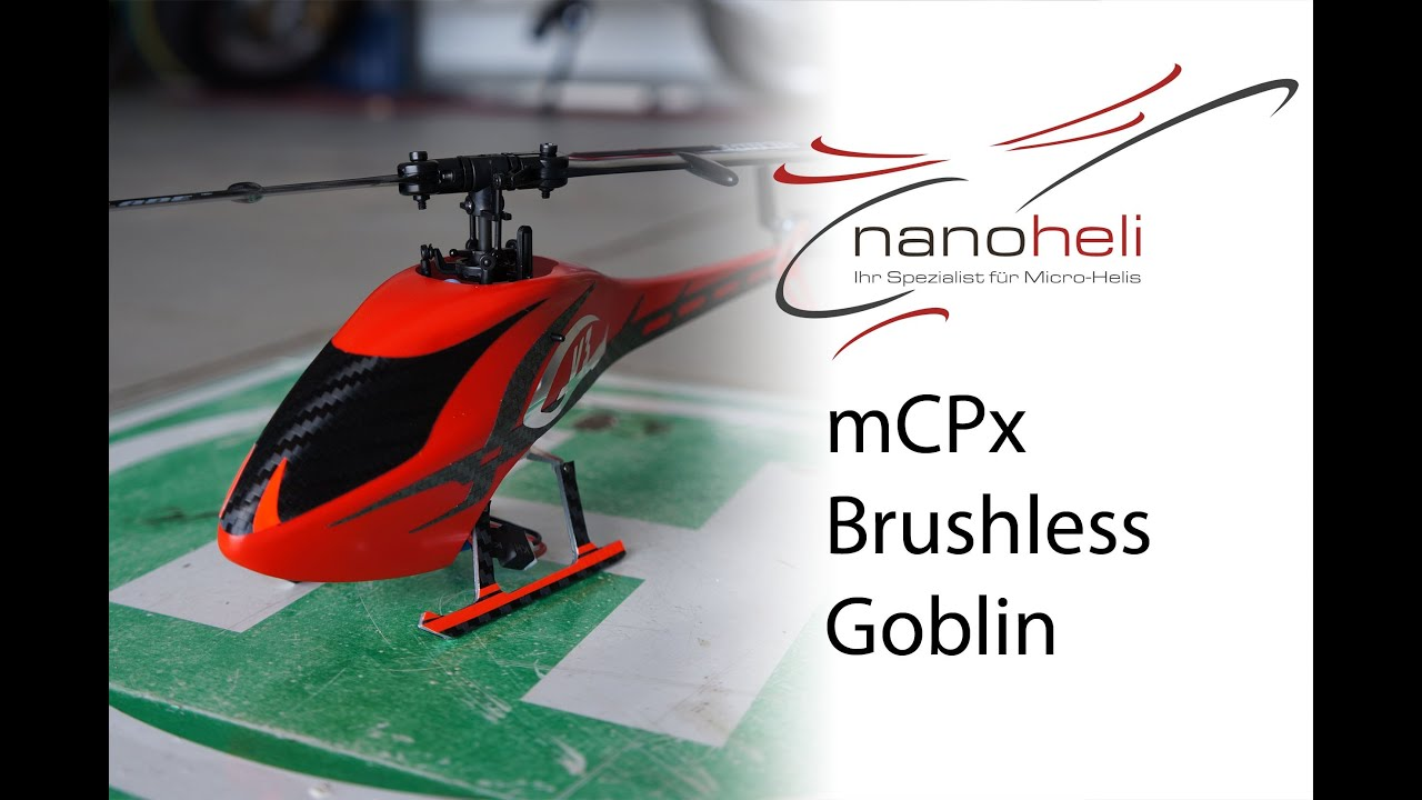 Blade mCPx Brushless - Goblin canopy red | nanoheli.net  sc 1 st  YouTube & Blade mCPx Brushless - Goblin canopy red | nanoheli.net - YouTube