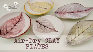 Imprinting Leaves in Air-Dry Clay Plates DIY ~ ✂️ Maremi's Small Art