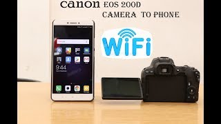 HOW TO CONNECT CANON EOS 200D WIFI TO SMARTPHONE.