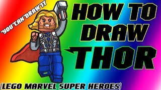 How To Draw Thor from Lego Marvel Super Heroes ✎ YouCanDrawIt ツ 1080p HD