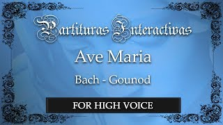 Ave Maria - Bach/Gounod (Karaoke - Key: F major)