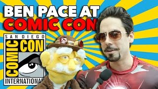 Professor Puppet and Ben Pace at Comic Con 2014