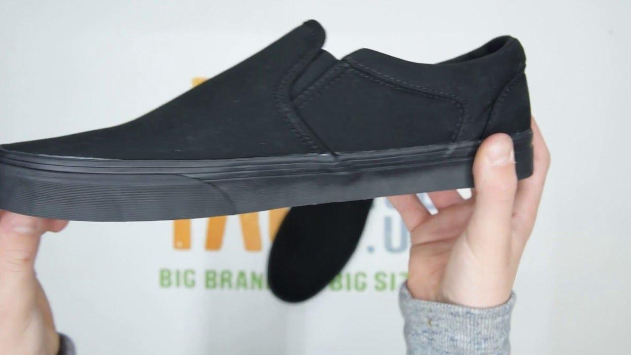 12fafa6d691b9a Vans Asher - Black Black - Walktall