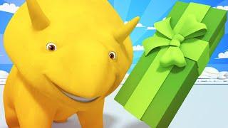 Lerne mit Dino - Weihnachten - Essen für Sechs! - Dino dem Dinosaurier 👶 Lehrreiche Cartoon