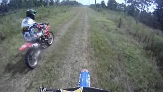 2 stroke vs 4 stroke drag race