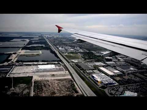 Air Canada Airbus A319 Flight Toronto To Miami
