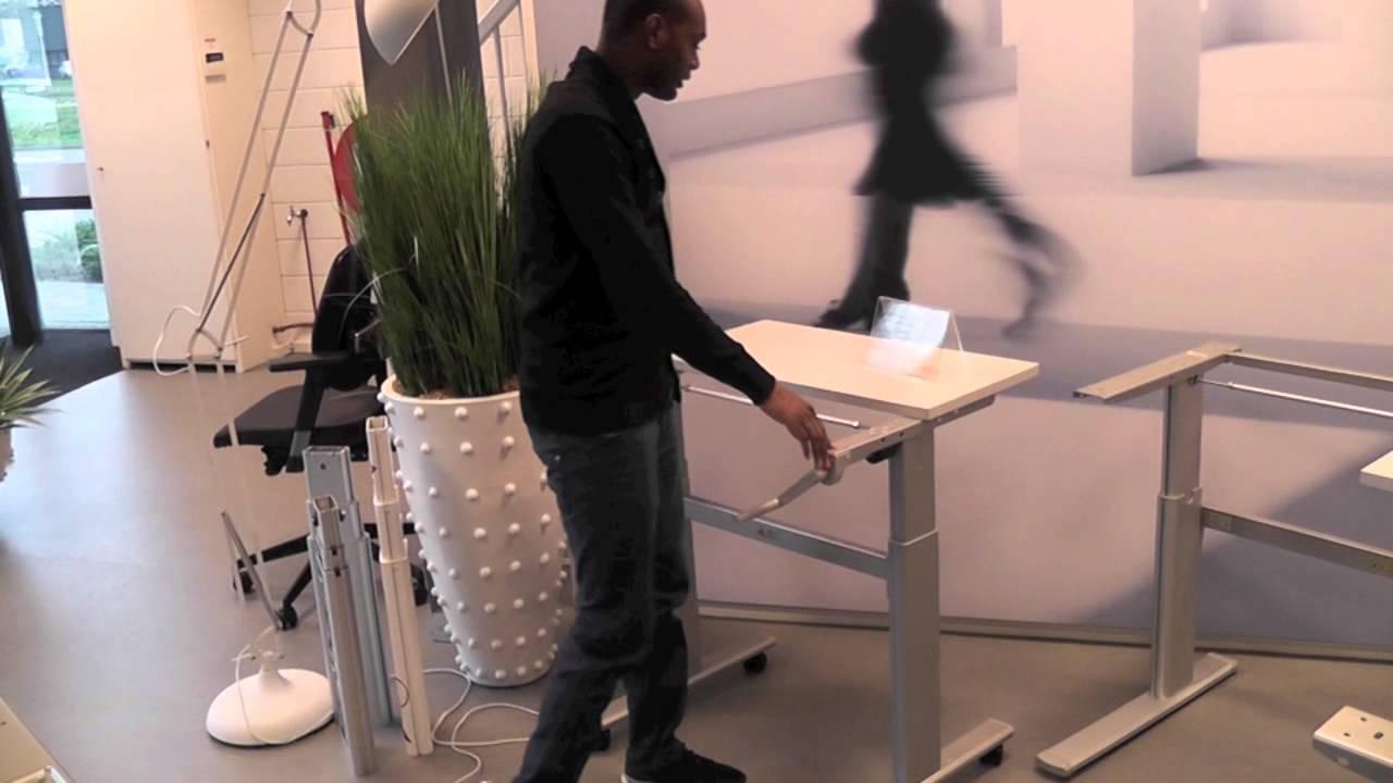 Bureau zit sta frame s worktrainer youtube
