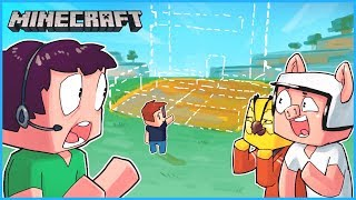 We made Nogla's house disappear while he was livestreaming... Minecraft ep 22