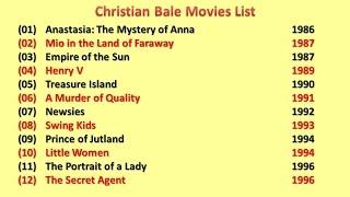 Christian Bale Movies List Video