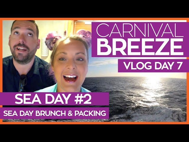 Seaday Brunch, Trivia and Packing Up | Carnival Breeze Cruise Vlog Day 07