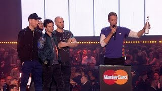 Coldplay wins British Group | The BRIT Awards 2016