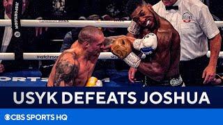 Oleksandr Usyk stuns Anthony Joshua to win WBA, IBF and WBO Titles | FULL RECAP | CBS Sports HQ
