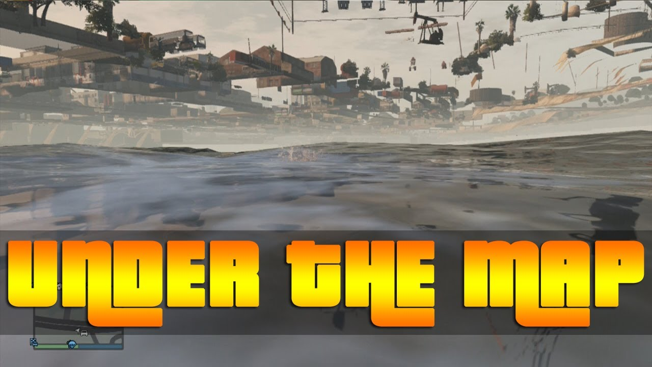GTA V Online Glitches  NEW OutUnder The Map Glitch  YouTube