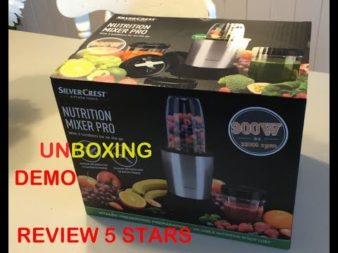 Lidl Silvercrest Nutrition Mixer 900 W Unboxing Review - Silvercrest Lidl Blender