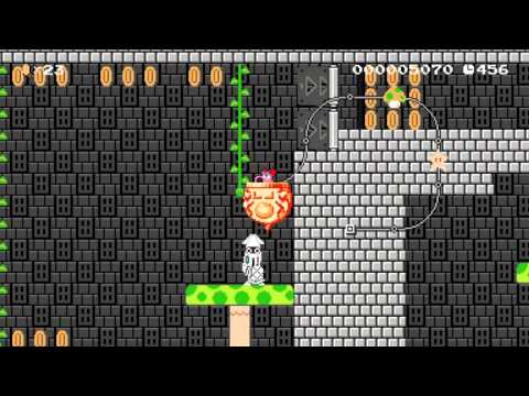 Birdo's Throwback Castle by Bay - Super Mario Maker - No Commentary
