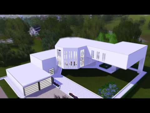 The Sims 3 House : Ultra Modern Art Mansion [HD]