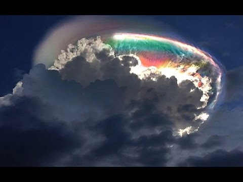 "Mysterious Rainbow cloud on Costa Rica Independence Day, ""End of times"" ?  Viral Video 2015"