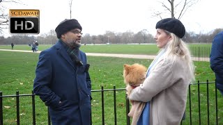 P3 - Real Questions! Hashim vs Christian Lady l Speakers Corner l Hyde Park