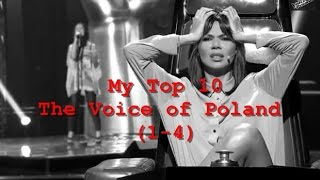 My Top 10 : The Voice of Poland (Blind Audition 1-4)