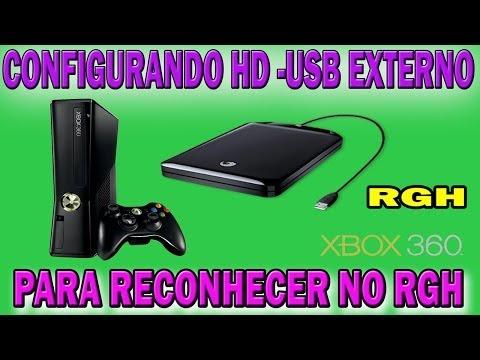 COMO CONFIGURAR UM HD-EXTERNO-USB 2.0 PARA RECONHECER NO RGH