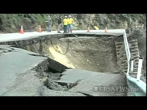 Big Collapse in Big Sur highway