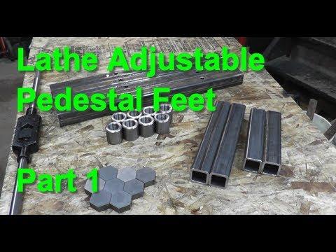 Making Adjustable 12x36 Lathe Feet - Part 1