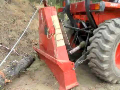 Farmi winch blade for tractor logging