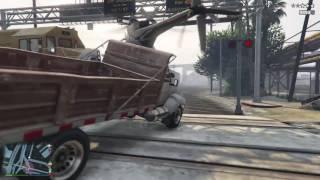Grand Theft Auto V Train vs Helicopter vs Dump truck vs LyonKing