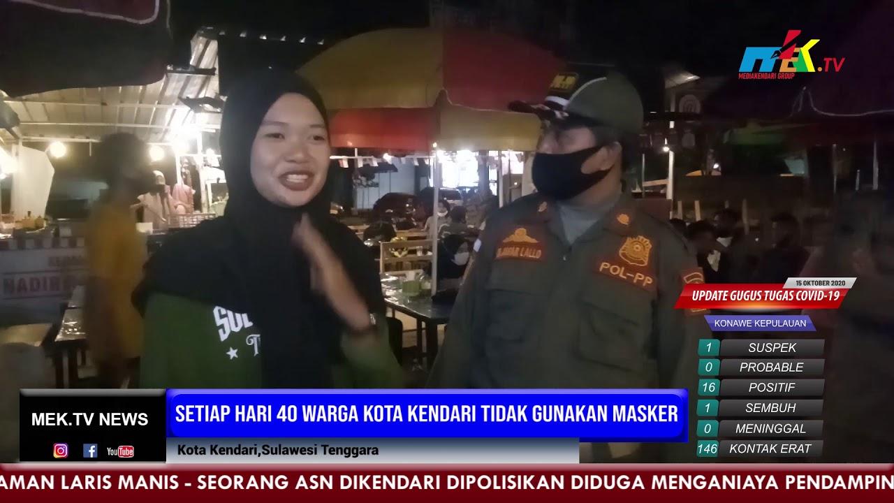 Setiap Hari 40 Warga Kota Kendari Tidak Gunakan Masker