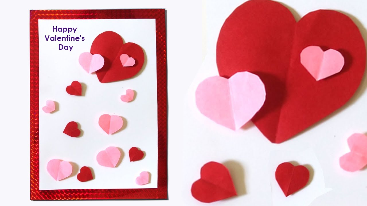 How To Make Heart Valentines Card Paper Crafts Design Handmade