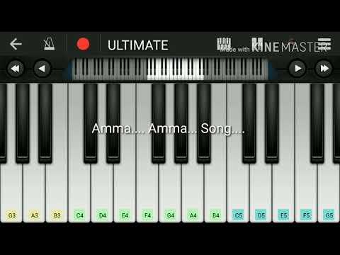 Amma Amma Song @ Velaiilla Pattadhari Piano # Mobile Piano
