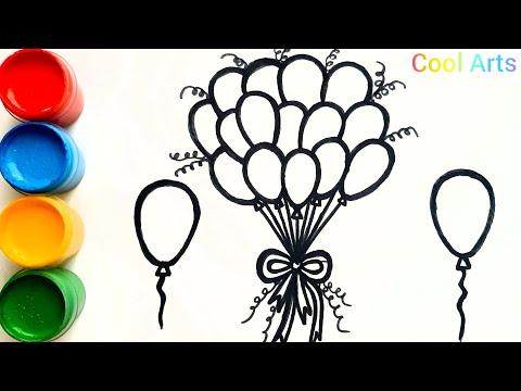 Воздушные шарики | Раскраска для детей | Balloon Coloring Page