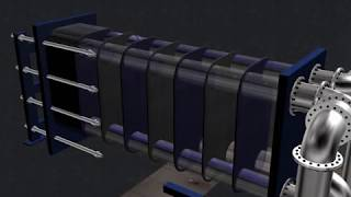 Plate Heat Exchanger 3D Animation