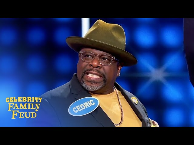 Cedric the Entertainer knows what gets LIT! | Celebrity Family Feud