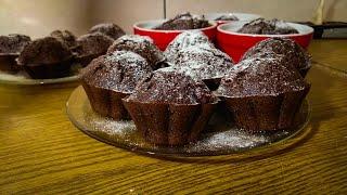 Шоколадные кексы, маффины! НУ БЕЗУМНО ВКУСНЫЕ, ВЛАЖНЫЕ ВНУТРИ И НЕЖНЫЕ!
