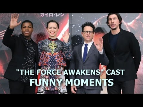 "Star Wars: ""The Force Awakens"" Cast Funny Moments - Episode I (PART 1)"