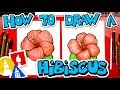 How To Draw A HIbiscus Flower Emoji 🌺