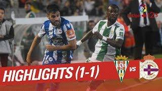 Resumen de Córdoba CF vs RC Deportivo (1-1)