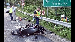 Születésnapos motoros halt meg Vasvárnál, a 8-as főúton - teherautó elé kanyarodott a motorral