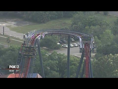 Stuck On A Roller Coaster In The Rain Sheikra At Busch