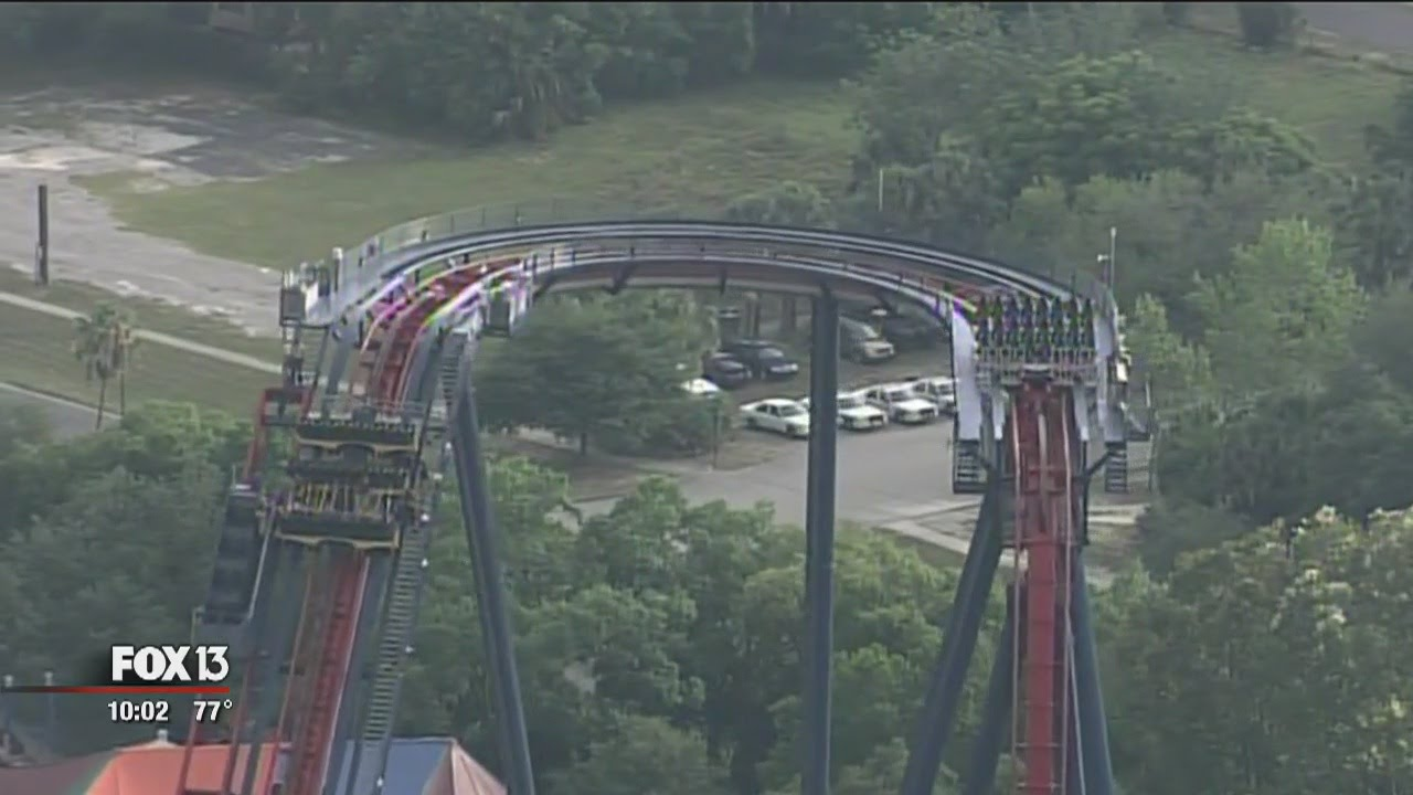 Passengers evacuated from stuck roller coaster