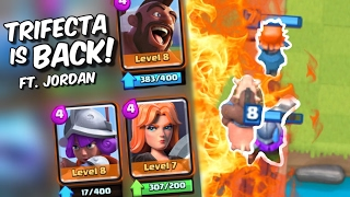 The TRIFECTA GOD is BACK! Jordan Teaches Trifecta Deck Perfection in Clash Royale