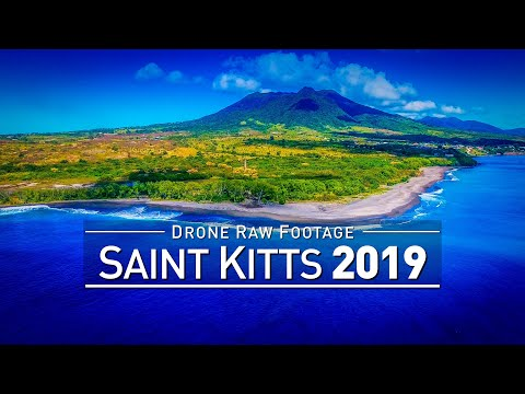 【4K】Drone RAW Footage | SAINT KITTS AND NEVIS 2019 ..:: Basseterre AND MORE | UltraHD Stock Video