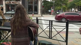 WATCH: Award-winning Akron singer performs in Downtown Cleveland